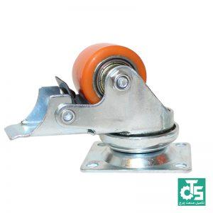 چرخ بلبرینگی پلی اورتان کوچک با تحمل وزن بالا