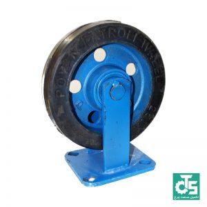 چرخ فولادی لاستیکی ثابت